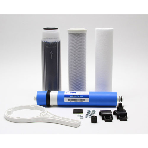 75 GPD 3 Stage RO System with Clear Canister Housing 2