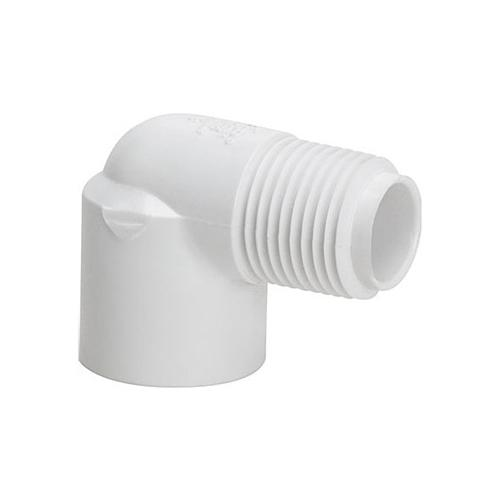 1/2 in. 90° PVC Elbow [Slip x Mpt]