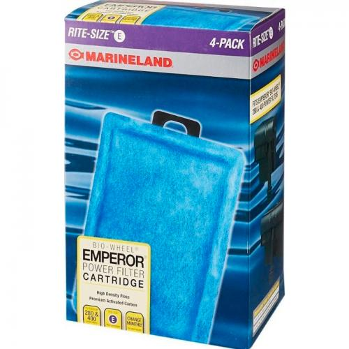 MarineLand Rite Size E - Emperor 280/400 Filter Cartridges [4 pk] 1