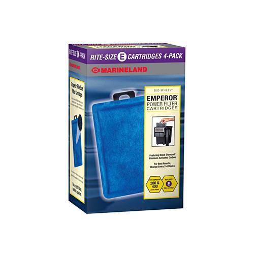 MarineLand Rite Size E - Emperor 280/400 Filter Cartridges [4 pk]
