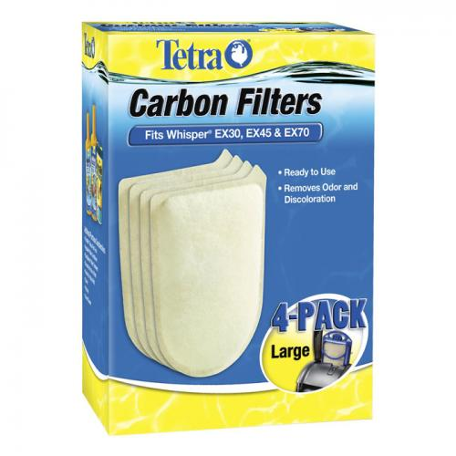 Whisper® EX Carbon Filter Replacement Cartridges - Large [4 pk] 1