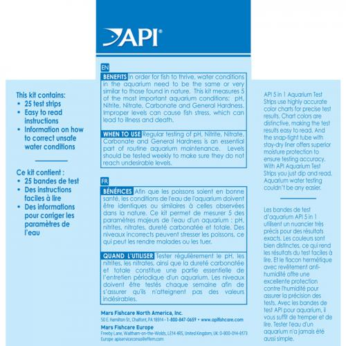 API 5 In 1 Test Strips [ 25 Tests] 2
