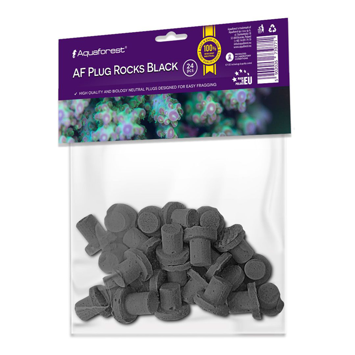 Aquaforest Plug Rocks - Black [24 pk]