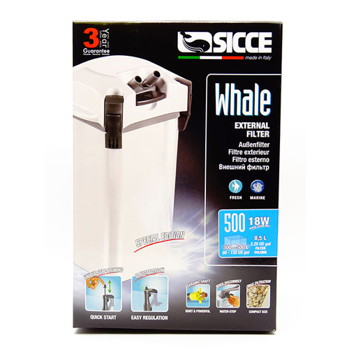 Sicce Whale 500 External Canister Filter 1