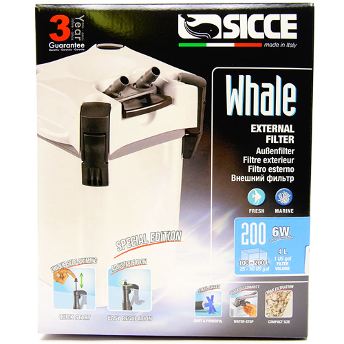Sicce Whale 200 External Canister Filter 1