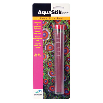 Two Little Fishies Aqua Stick Red Coralline Epoxy [114 g]
